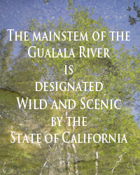 the mainstem of the gualala is designated a wild and scenic river